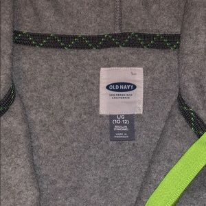 Old Navy Shirts & Tops - Old Navy gray and lime fleece hoodie